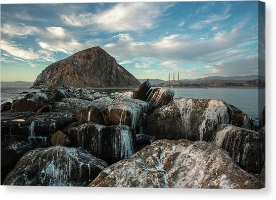 Morro Rock Breakwater Canvas Print