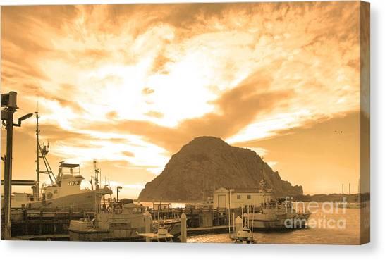 Morro Rock Sky Canvas Print