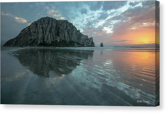 Morro Rock Sunset Canvas Print