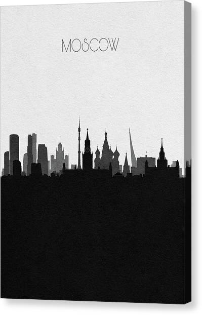 Moscow Skyline Canvas Print - Moscow Cityscape Art by Inspirowl Design