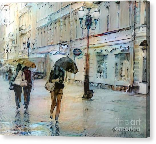 Moscow In The Rain Canvas Print