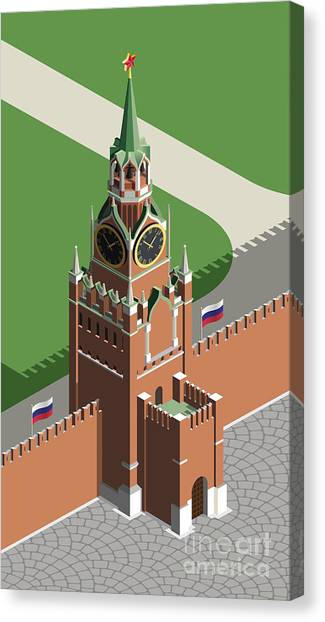 Famous Places Canvas Print - Moscow Kremlin Tower by Nikola Knezevic