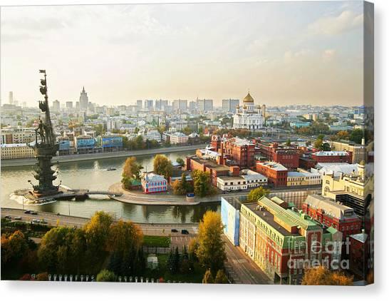 Orthodox Canvas Print - Moscow, Russia by Vasily Smirnov