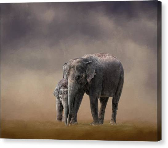 Mother And Son Canvas Print