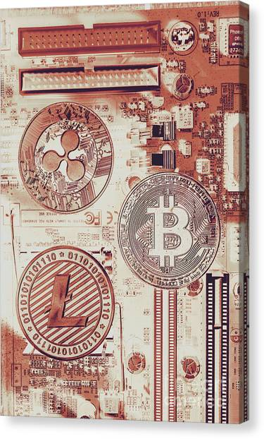 Currency Canvas Print - Motherboard Money by Jorgo Photography - Wall Art Gallery