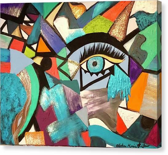 Motley Eye 4 Canvas Print