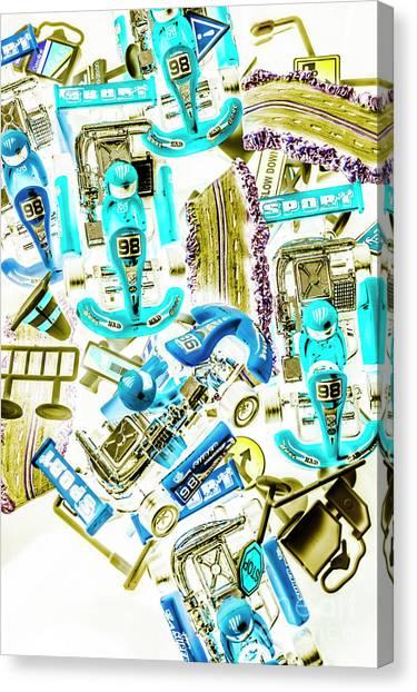Carts Canvas Print - Motorised Bedlam by Jorgo Photography - Wall Art Gallery