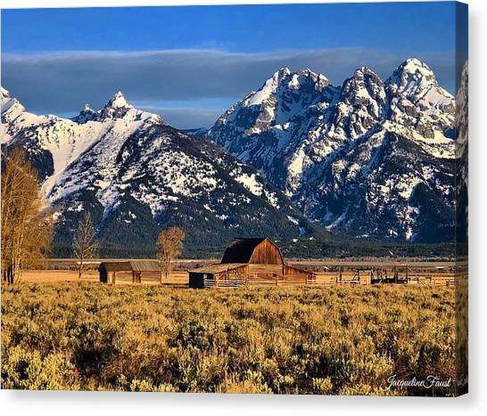 Moulton Barn Grand Tetons Canvas Print