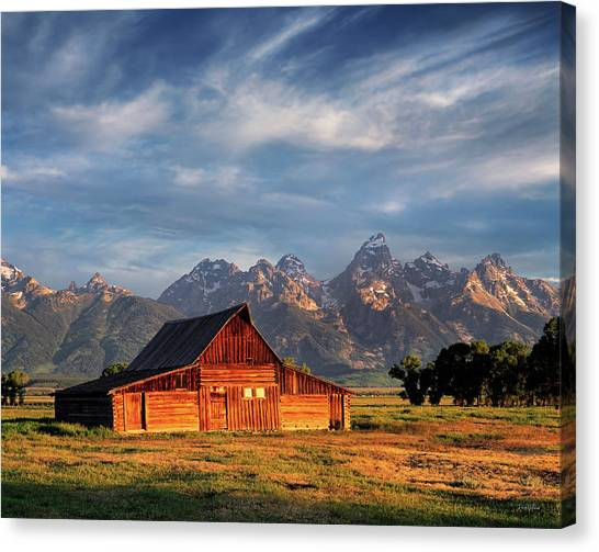 Moulton Barn Morning Light Canvas Print