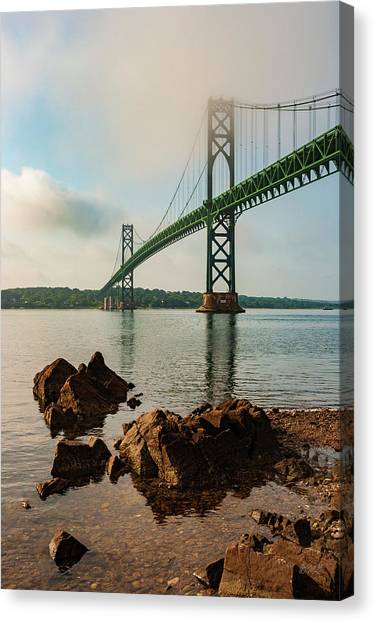 Canvas Print featuring the photograph Mount Hope Bridge IIi Color by David Gordon