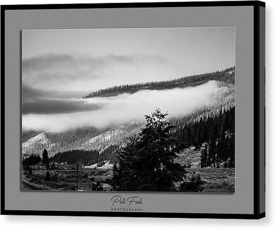 Canvas Print featuring the photograph Mountain Mist by Pete Federico