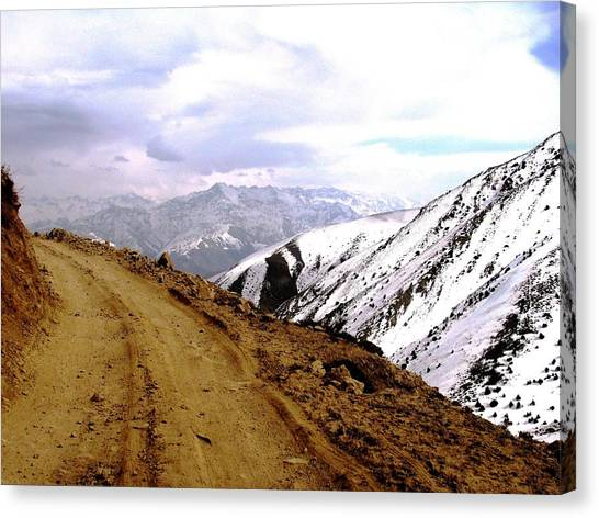 Hindu Kush Canvas Print - Mountain Road In Afghanistan by Michal Przedlacki, Photography From Less Travelled Places