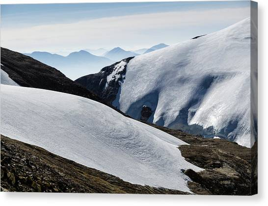 Mountain Snowfield, Mustang, Nepal Canvas Print