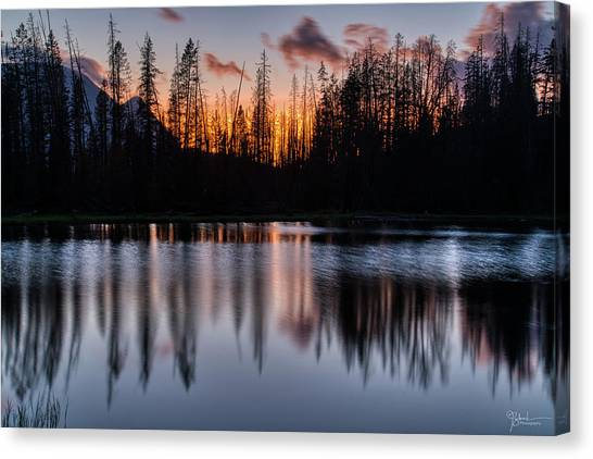 Uinta Canvas Print - Mountain Sunset Reflection by James Zebrack