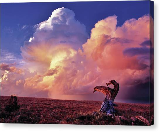 Mountain Thunder Shower Canvas Print