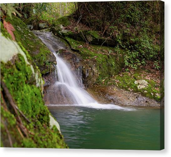 Canvas Print featuring the photograph Mountain Waterfall II by William Dickman