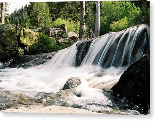 Mountain Waterfall Travel Scenic Canvas Print
