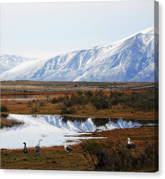 Mountains And Reflection Canvas Print