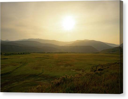 Mountains At Dawn Canvas Print