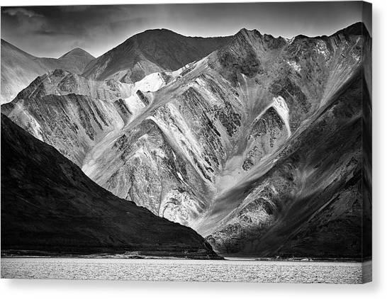 Mountains At Pangong Canvas Print