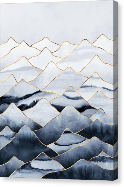 Winter Canvas Print - Mountains by Elisabeth Fredriksson
