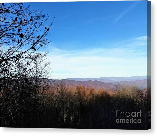 Canvas Print featuring the photograph Mountains For Miles by Rachel Hannah