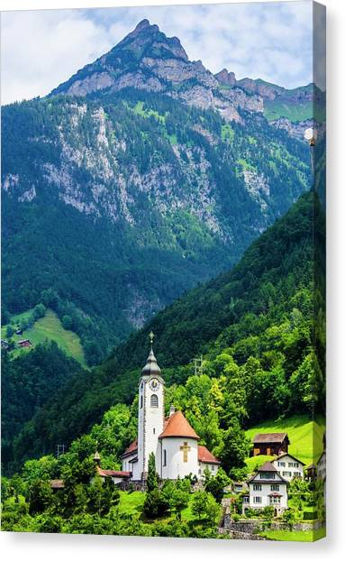 Mountainside Church Canvas Print
