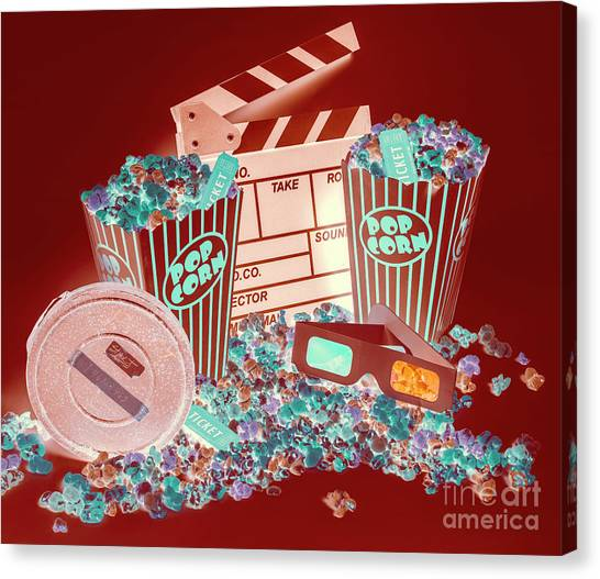 Popcorn Canvas Print - Movie Makers Inc. by Jorgo Photography - Wall Art Gallery