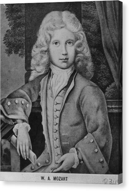 Mozart As Child Canvas Print by Hulton Archive