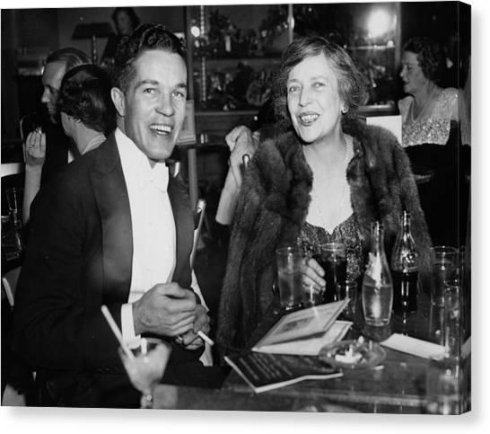 Mr. Robert Stevens And Mrs. Nicholas Canvas Print by Bert Morgan