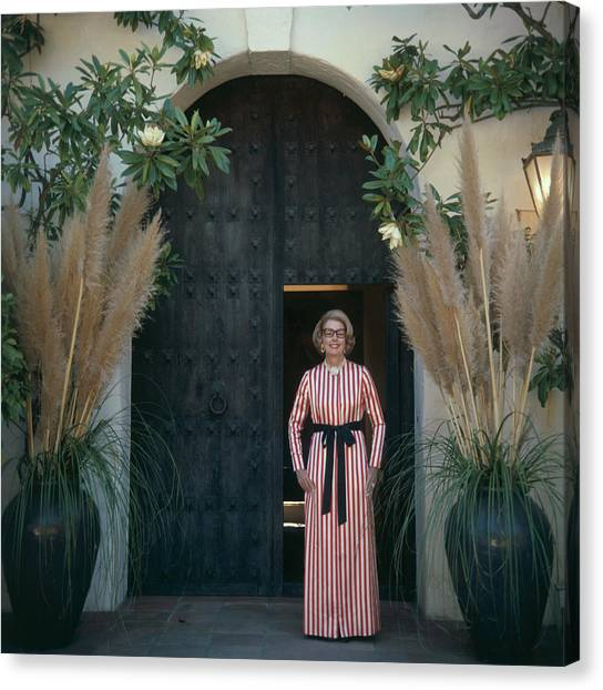 Mrs James Hoover Canvas Print by Slim Aarons