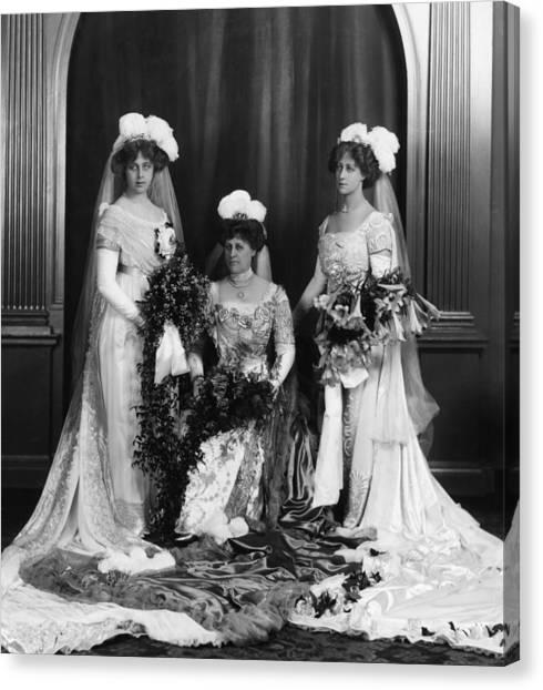 Mrs Lathams Wedding Canvas Print by Hulton Archive