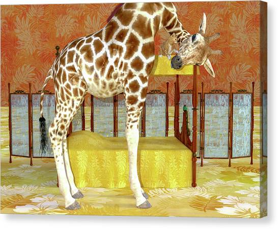 d4555df44 Hello Kitty Canvas Print - Ms Kitty And Her Giraffe by Betsy Knapp