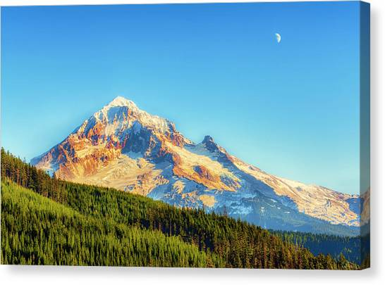 Canvas Print featuring the photograph Mt. Hood From Lolo Pass Mt. Hood National Forest by Dee Browning