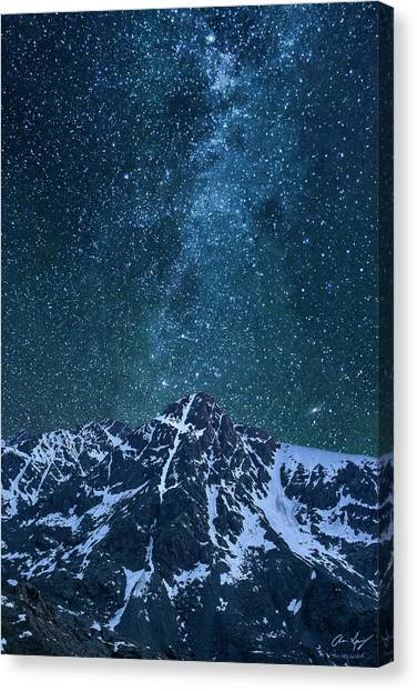 Mt. Of The Holy Cross Milky Way Canvas Print
