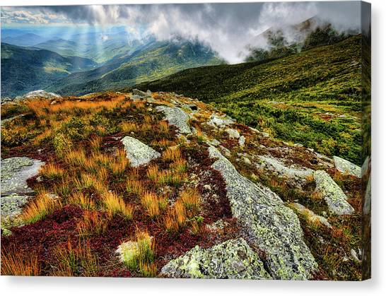 Mt. Washington Nh, Autumn Rays Canvas Print