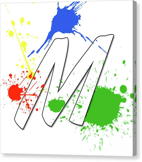 Canvas Print featuring the digital art MTM by Meet the Masters