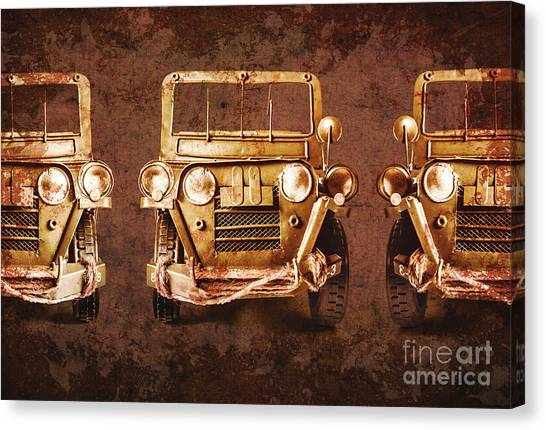 Old Truck Canvas Print - Mud Adventure by Jorgo Photography - Wall Art Gallery