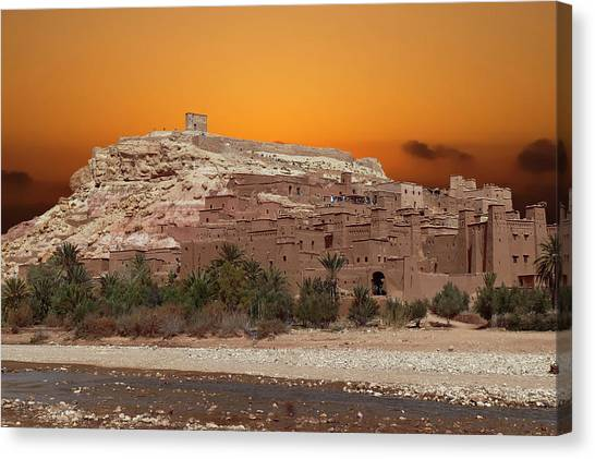 Mud Brick Buildings Of The Ait Ben Haddou Canvas Print