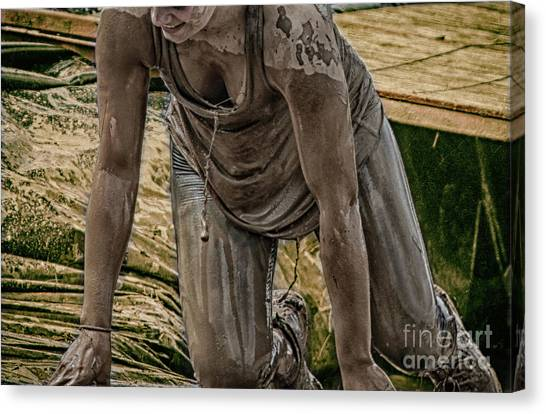Mud Crawl  Canvas Print by Steven Digman