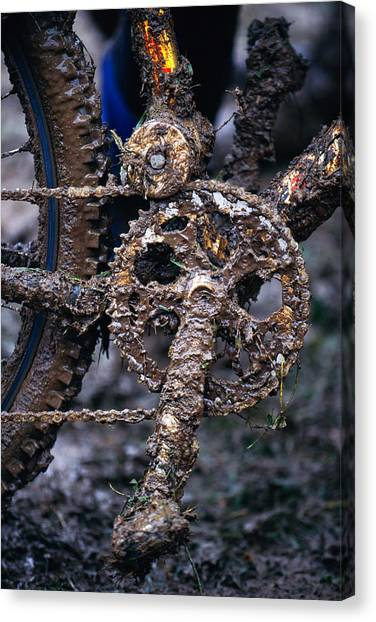 Muddy Bicycle, Close-up Canvas Print by Anton Want