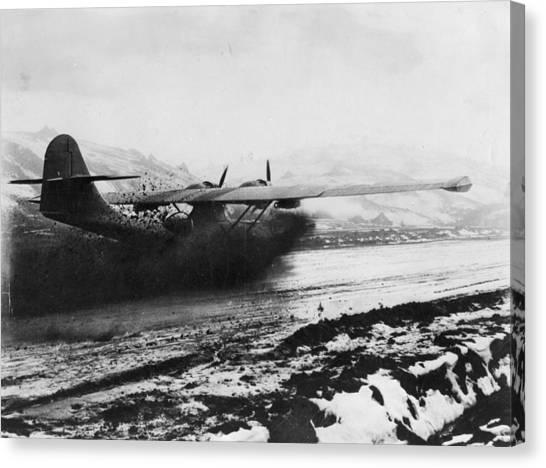 Muddy Landing Canvas Print by Hulton Archive