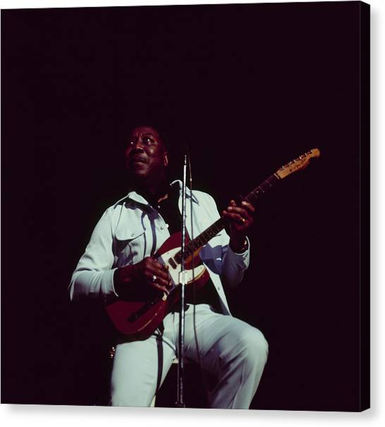 Muddy Waters Perfoms On Stage Canvas Print by David Redfern