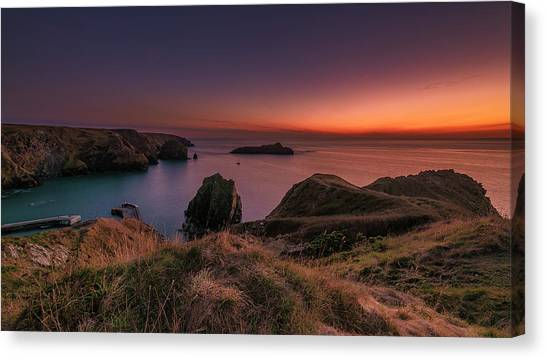 Mullion Cove - Sunset 2 Canvas Print