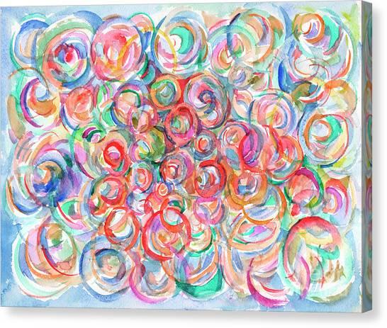 Multicolor Bubbles Canvas Print