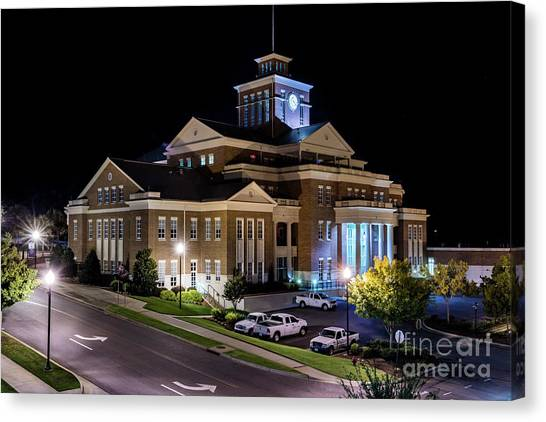 Municipal Center At Night - North Augusta Sc Canvas Print