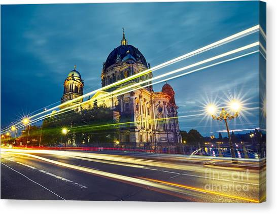 Urban Life Canvas Print - Museum Island With Berlin Cathedral - by Jaromir Chalabala