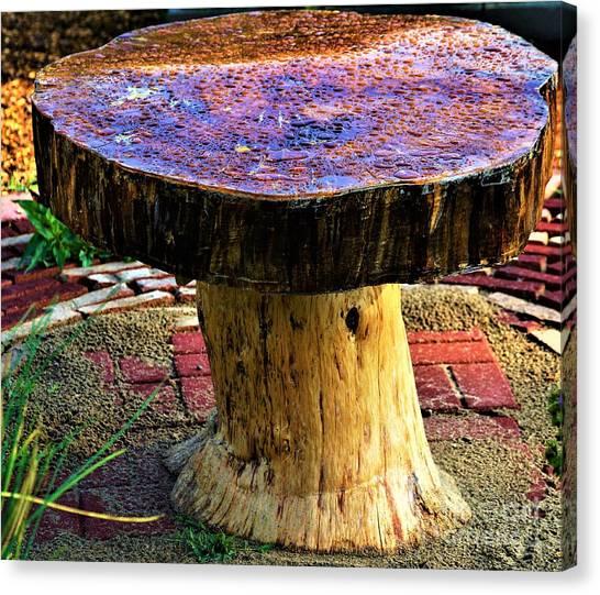 Mushroom Table Canvas Print