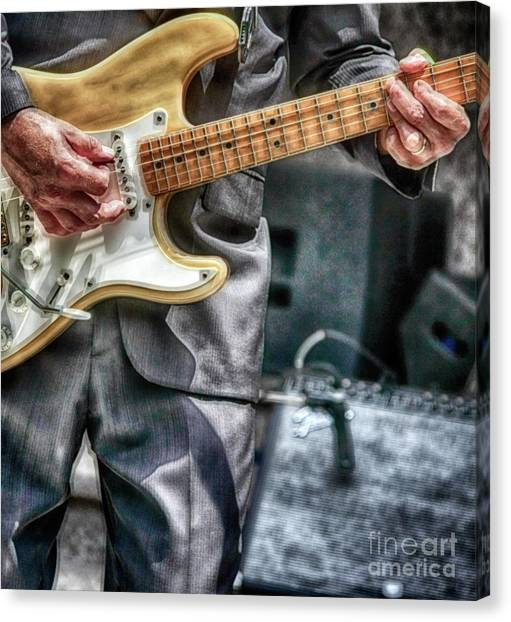 Music By The Neck  Canvas Print by Steven Digman