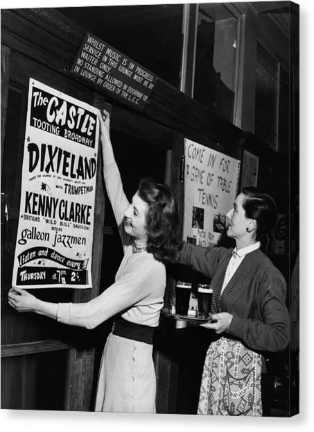 Placard Canvas Print - Music Night by Keystone
